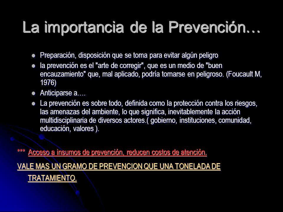 La importancia de la Prevención…