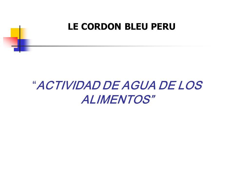 ACTIVIDAD DE AGUA DE LOS ALIMENTOS