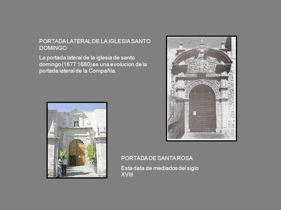 PORTADA LATERAL DE LA IGLESIA SANTO DOMINGO