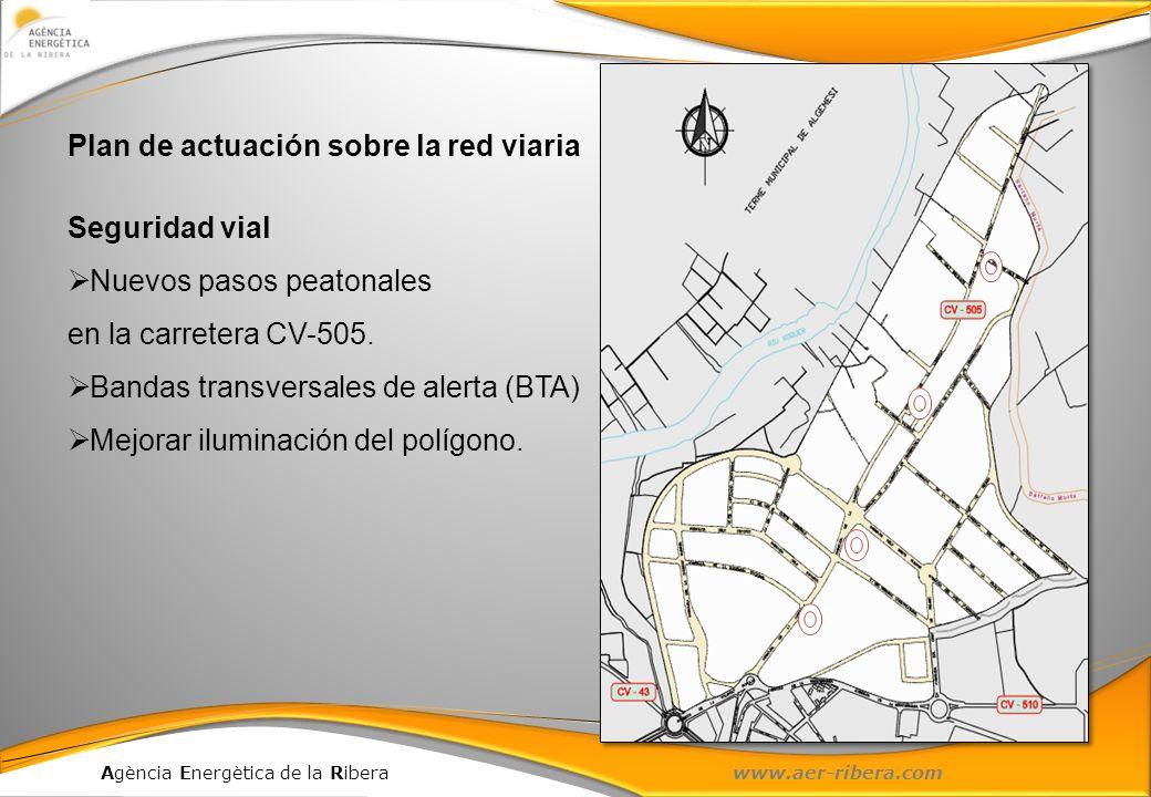 Plan de actuación sobre la red viaria