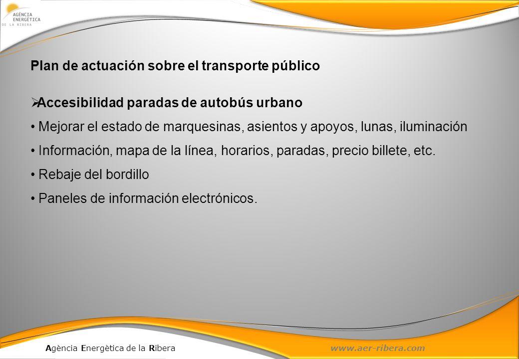 Plan de actuación sobre el transporte público