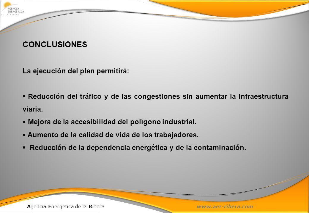 CONCLUSIONES La ejecución del plan permitirá: