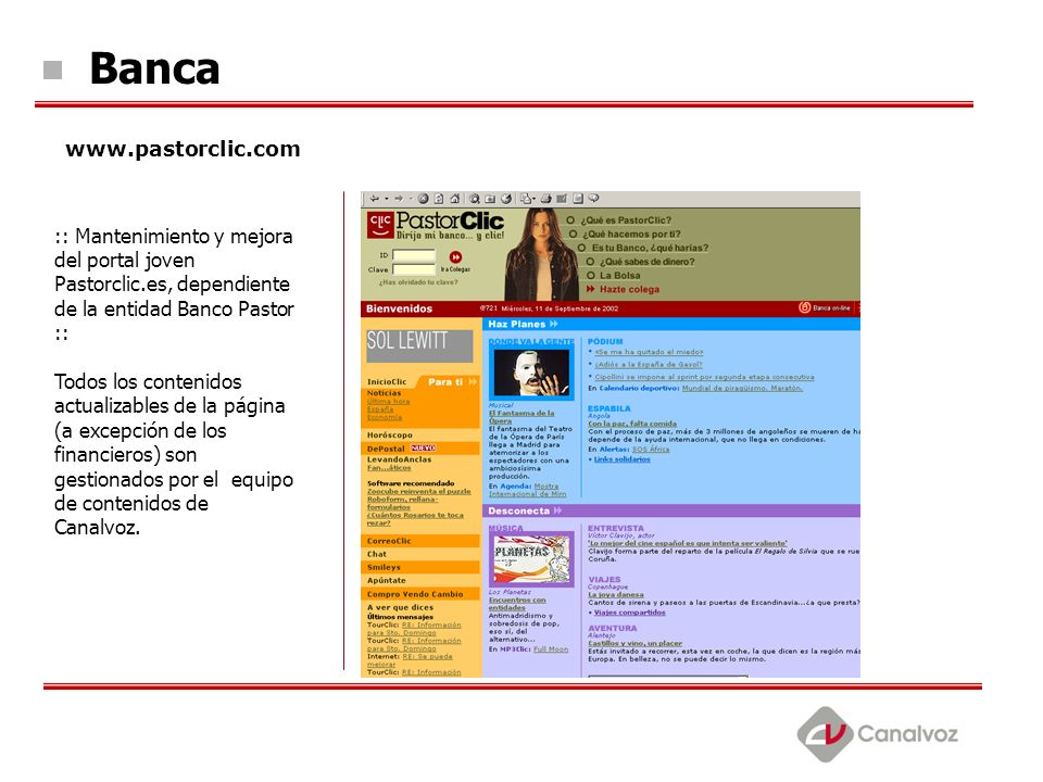 Banca www.pastorclic.com