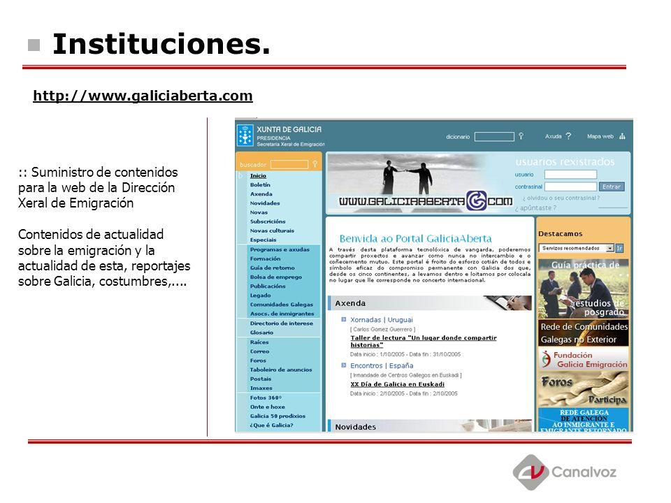 Instituciones. http://www.galiciaberta.com