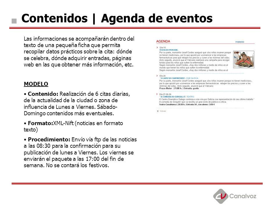 Contenidos | Agenda de eventos