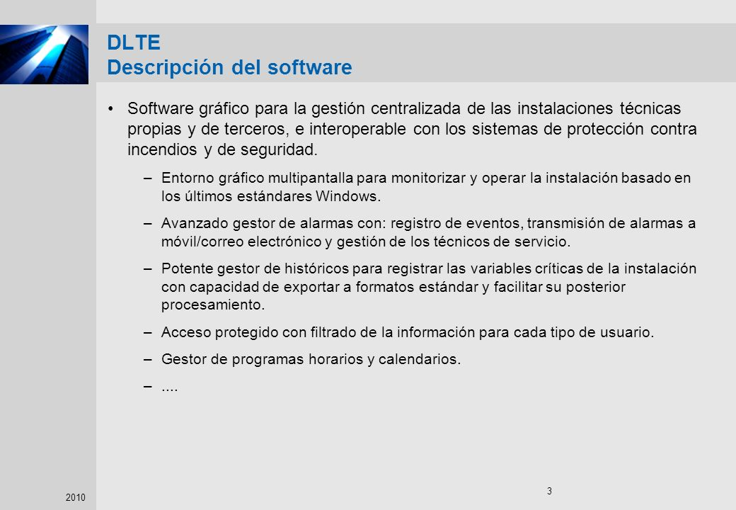 DLTE Descripción del software