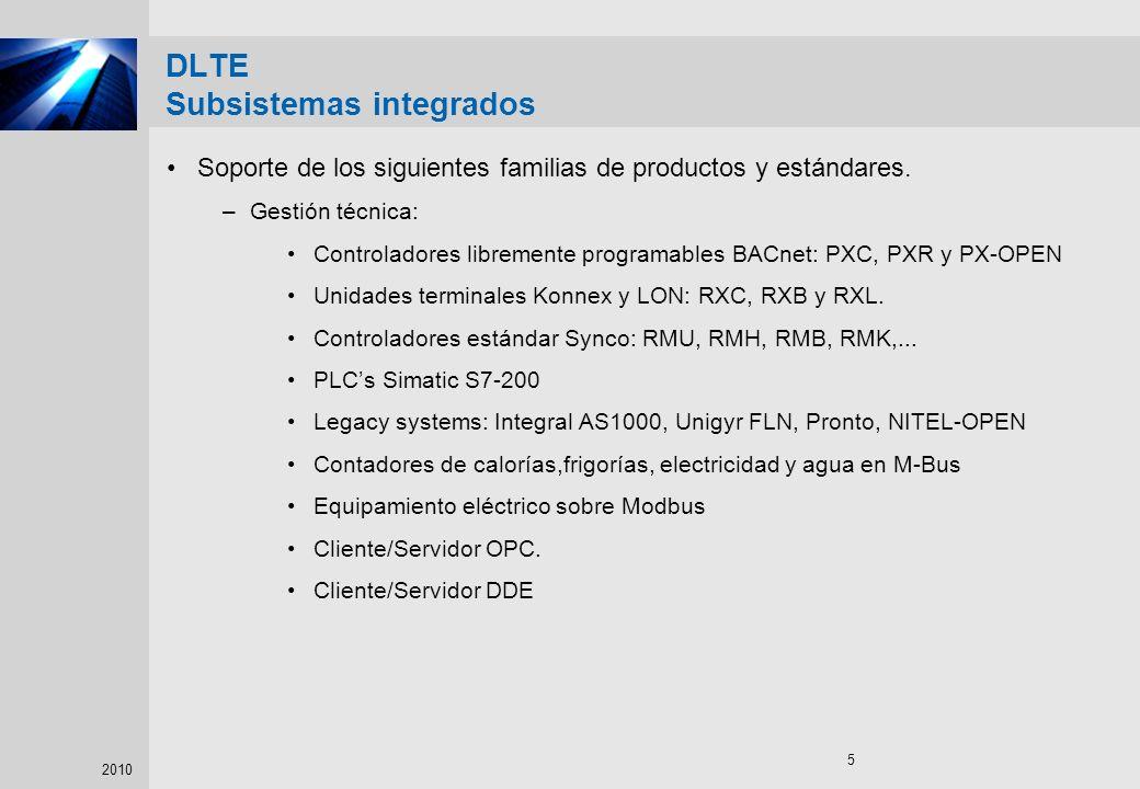 DLTE Subsistemas integrados
