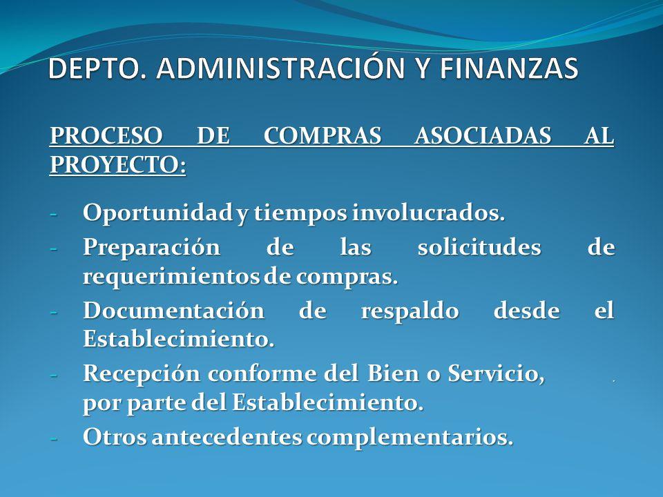 DEPTO. ADMINISTRACIÓN Y FINANZAS