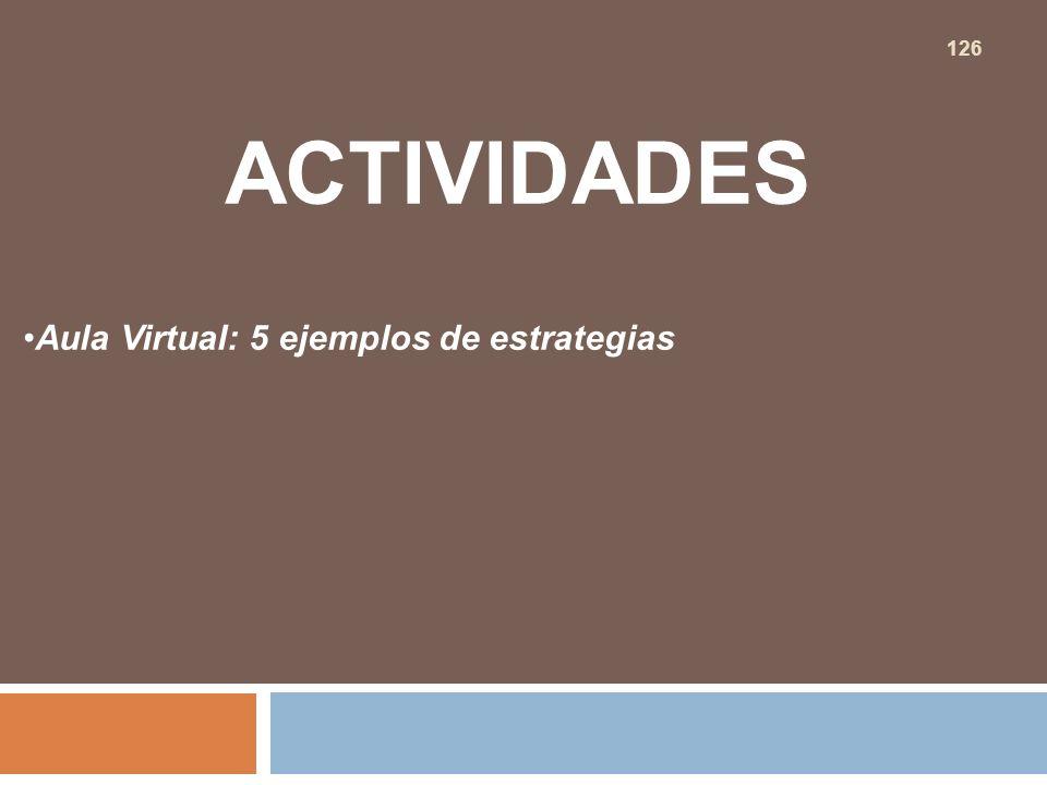 ACTIVIDADES Aula Virtual: 5 ejemplos de estrategias