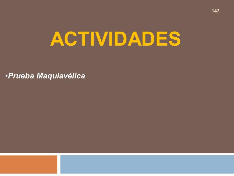 ACTIVIDADES Prueba Maquiavélica