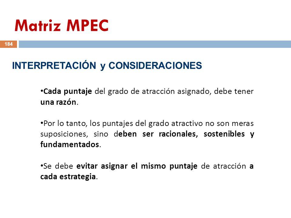 Matriz MPEC INTERPRETACIÓN y CONSIDERACIONES