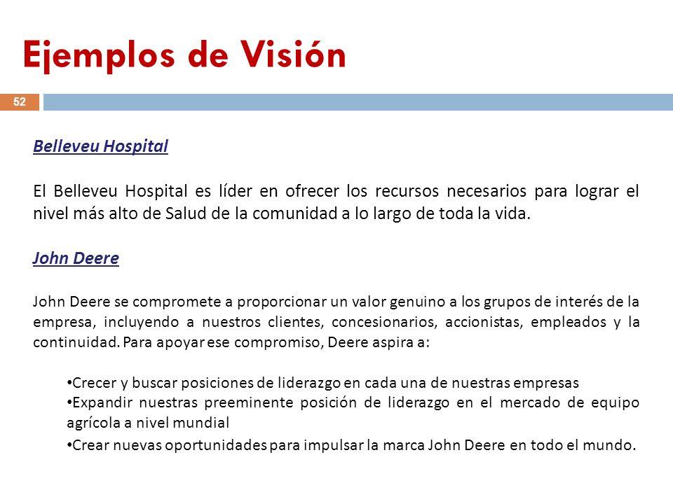 Ejemplos de Visión Belleveu Hospital