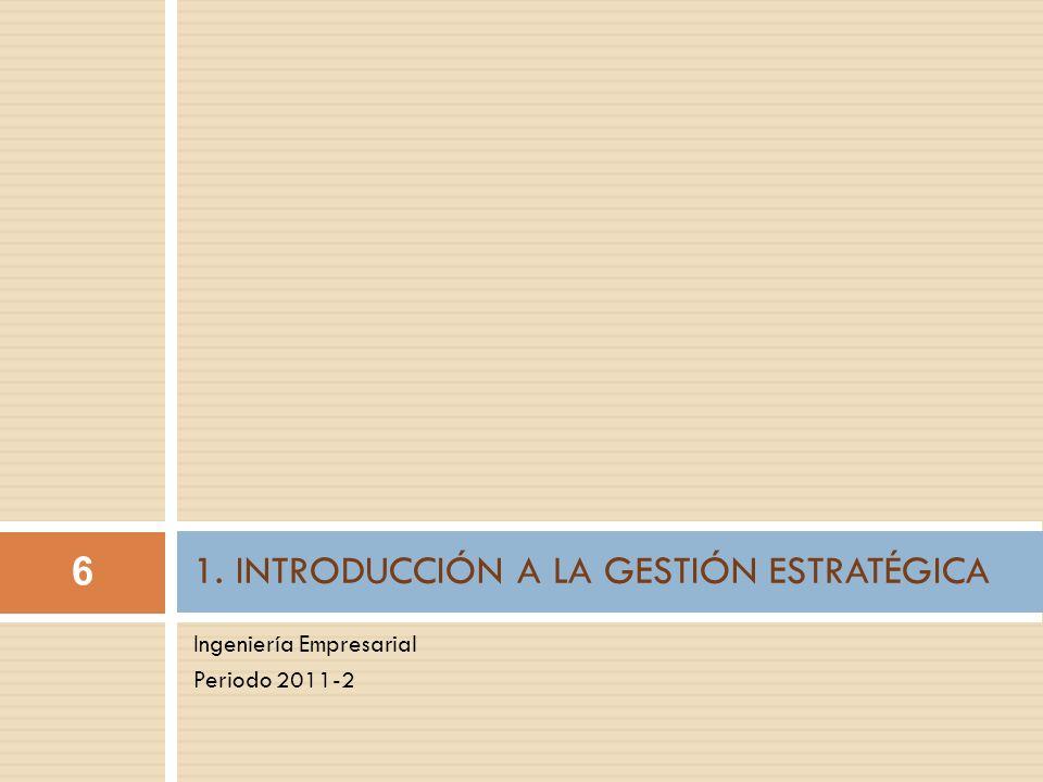 1. INTRODUCCIÓN A LA GESTIÓN ESTRATÉGICA