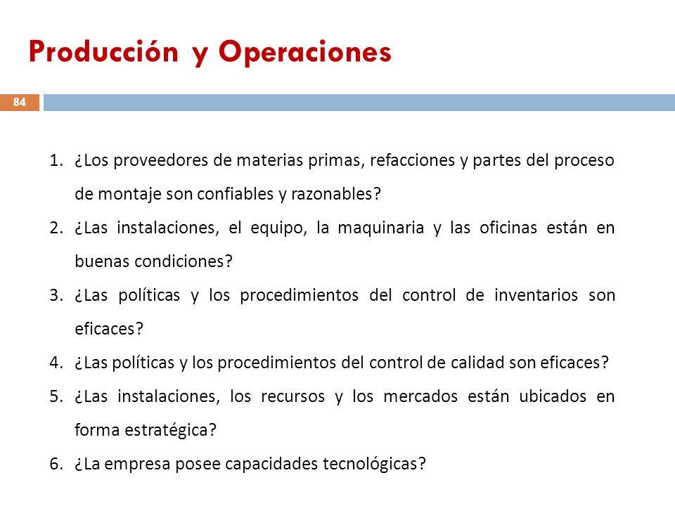 Producción y Operaciones
