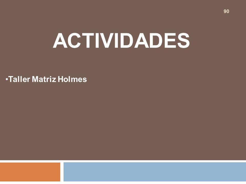 ACTIVIDADES Taller Matriz Holmes