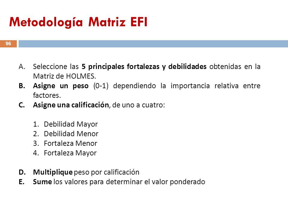 Metodología Matriz EFI
