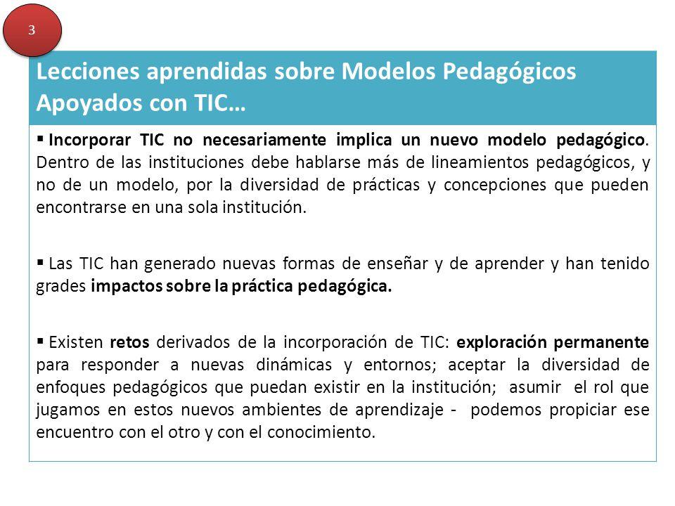 Lecciones aprendidas sobre Modelos Pedagógicos Apoyados con TIC…