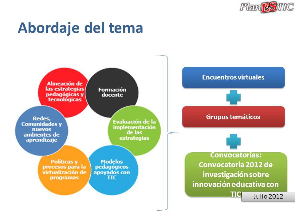 Convocatoria 2012 de investigación sobre innovación educativa con TIC
