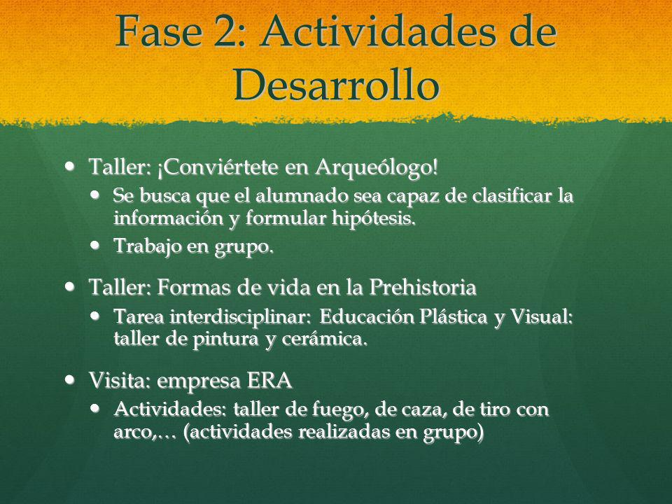 Fase 2: Actividades de Desarrollo