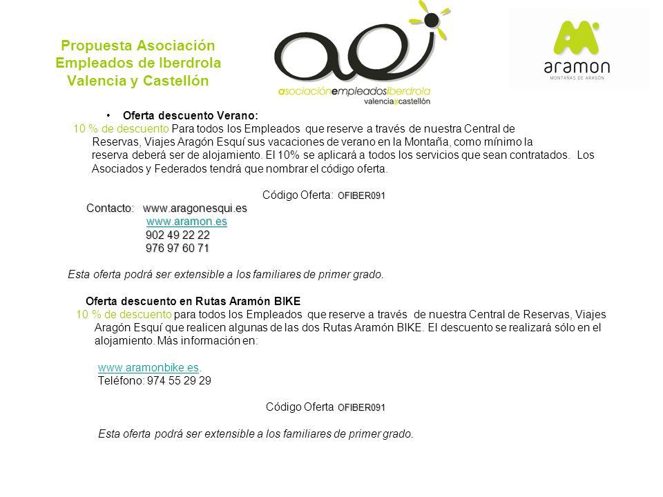 Propuesta Asociación Empleados de Iberdrola Valencia y Castellón