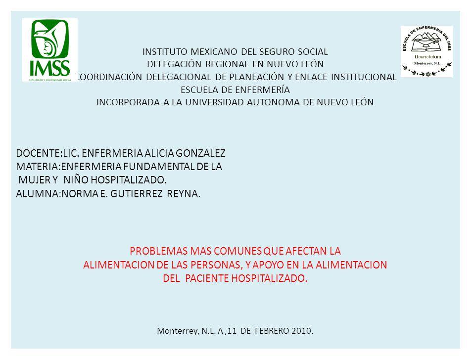 DOCENTE:LIC. ENFERMERIA ALICIA GONZALEZ