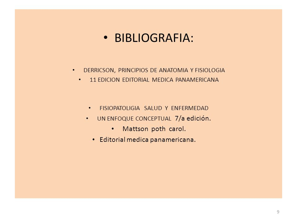 BIBLIOGRAFIA: Mattson poth carol. Editorial medica panamericana.