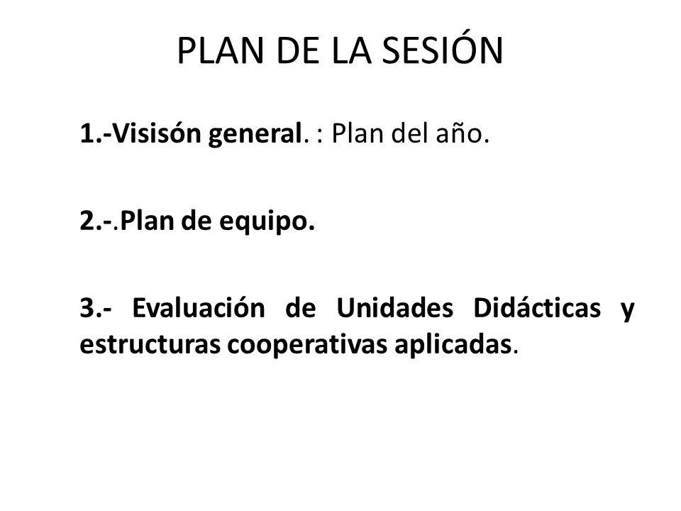 PLAN DE LA SESIÓN 1.-Visisón general. : Plan del año.