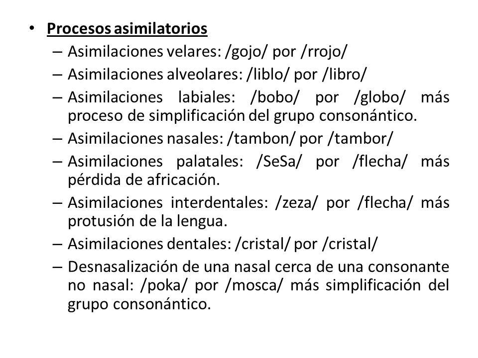 Procesos asimilatorios