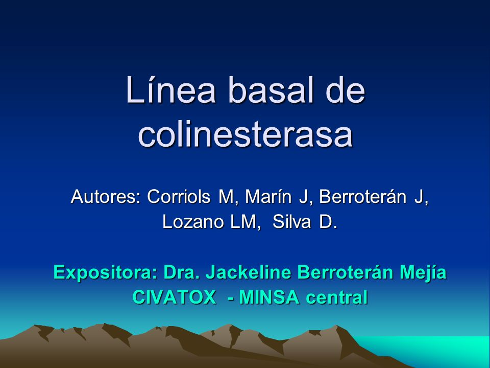 Línea basal de colinesterasa