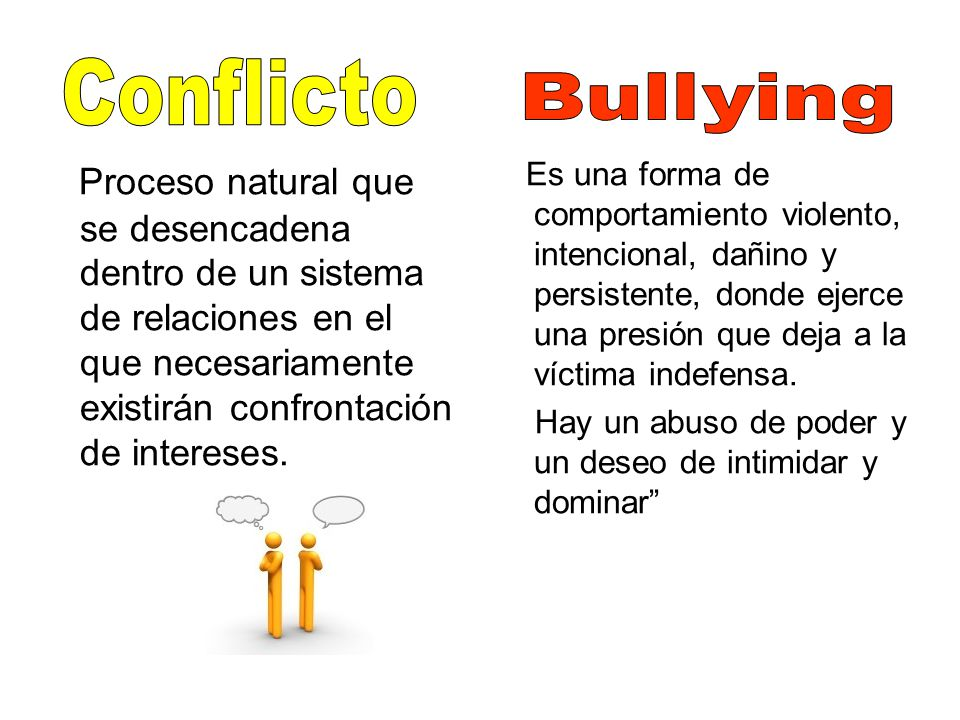 Conflicto Bullying.