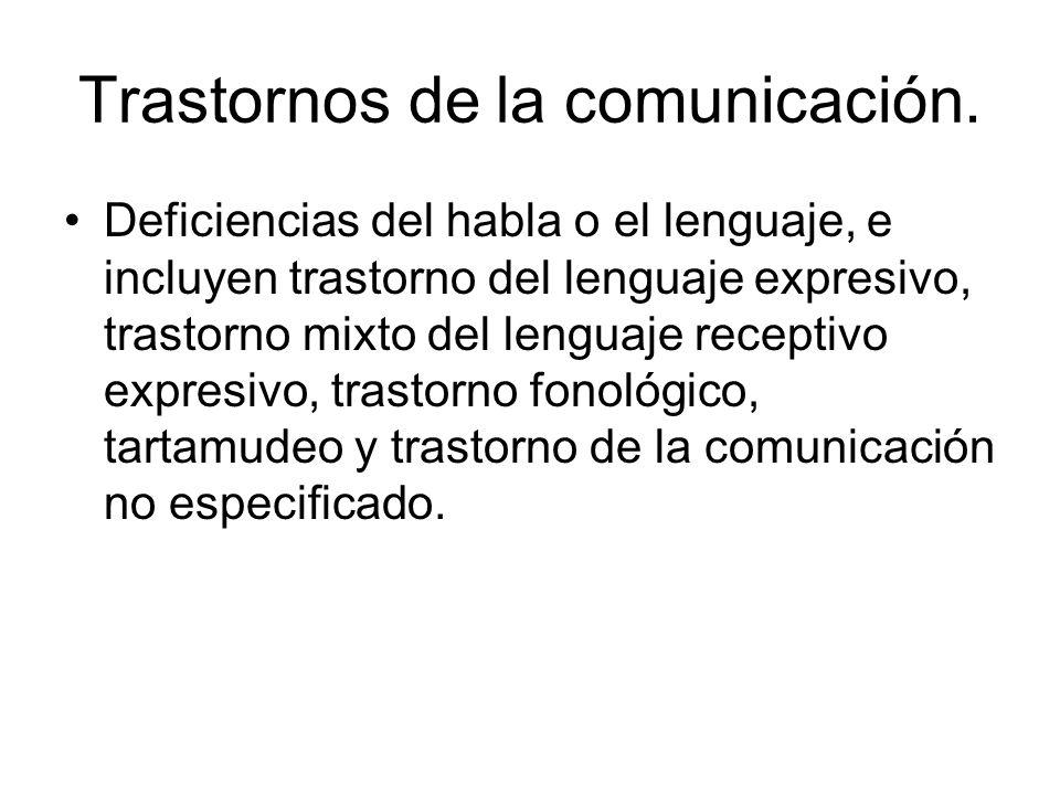 Trastornos de la comunicación.