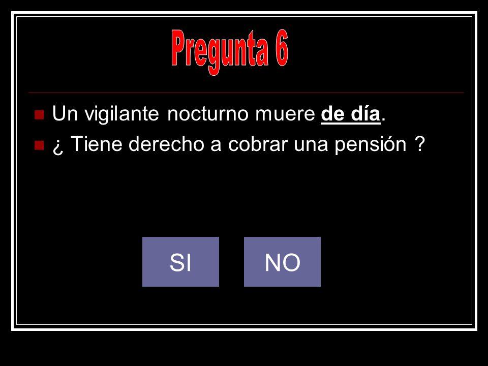 Pregunta 6 SI NO Un vigilante nocturno muere de día.