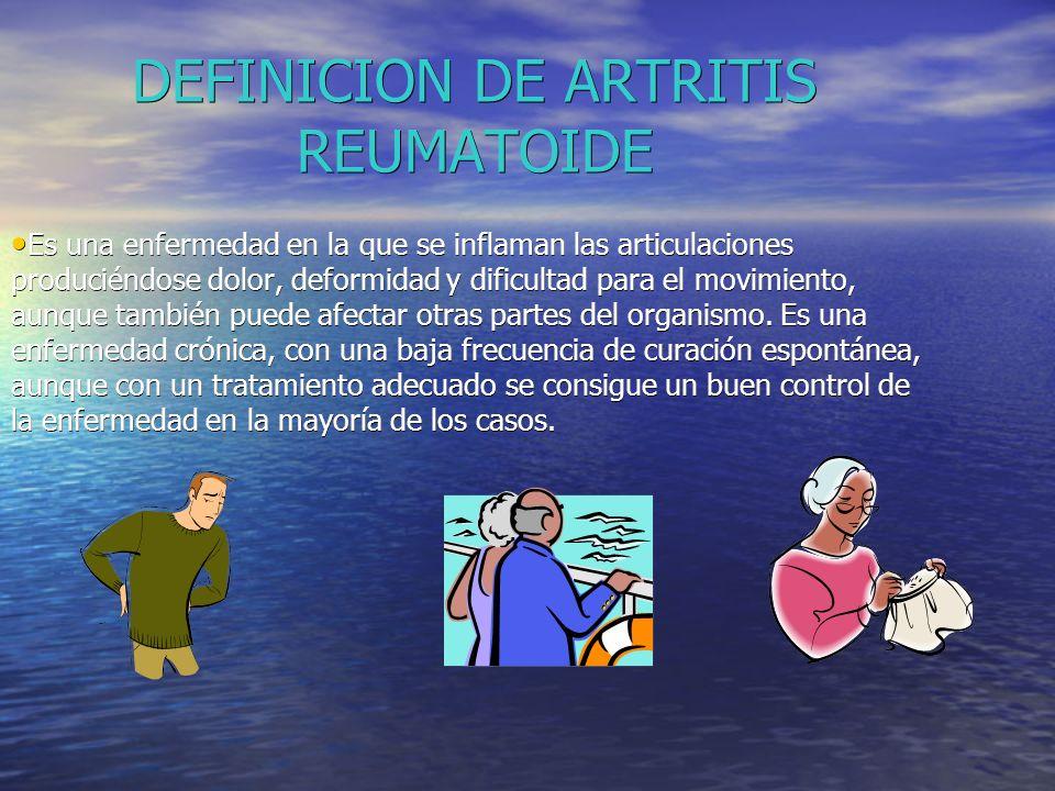 DEFINICION DE ARTRITIS REUMATOIDE