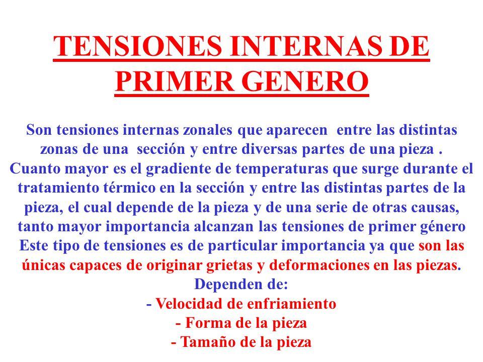 TENSIONES INTERNAS DE PRIMER GENERO