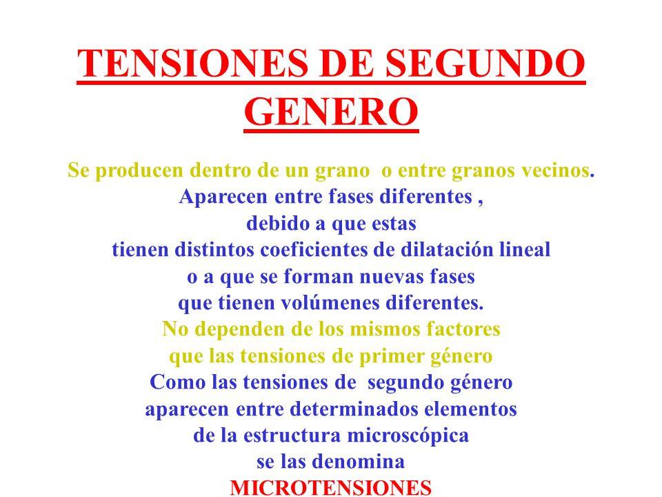 TENSIONES DE SEGUNDO GENERO