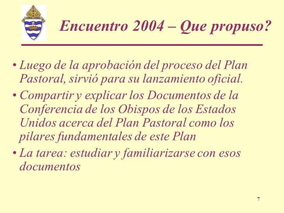 Encuentro 2004 – Que propuso