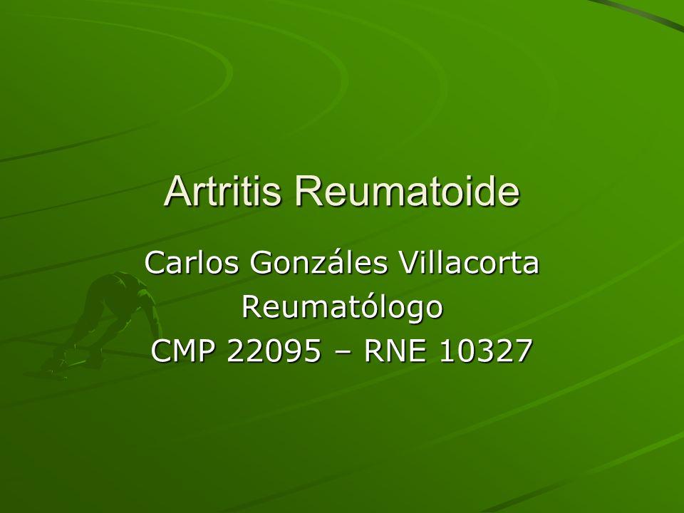 Carlos Gonzáles Villacorta Reumatólogo CMP 22095 – RNE 10327
