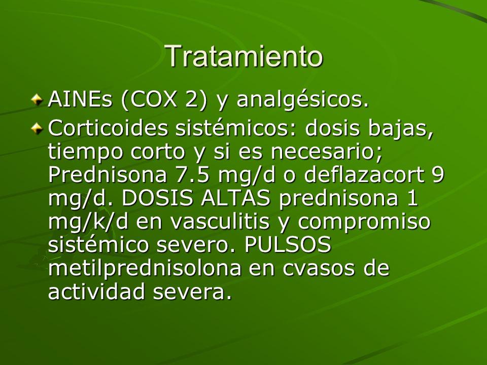 Tratamiento AINEs (COX 2) y analgésicos.
