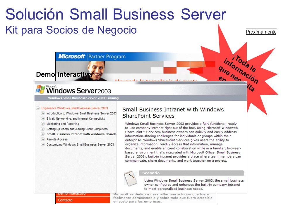 Solución Small Business Server Kit para Socios de Negocio