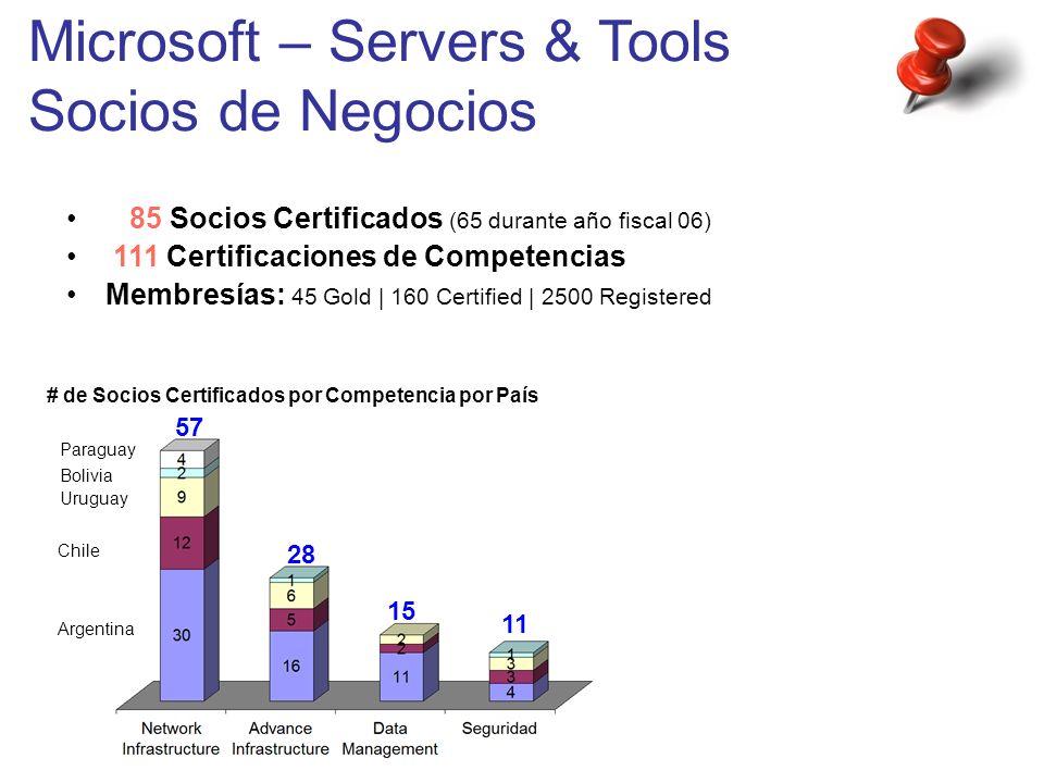 Microsoft – Servers & Tools Socios de Negocios