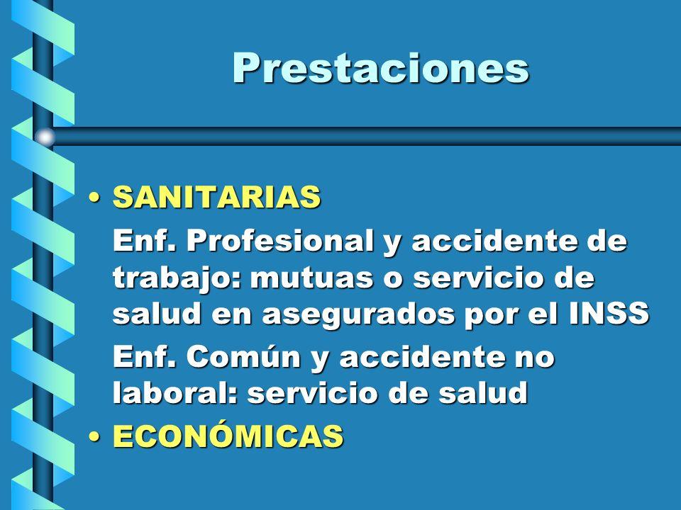 Prestaciones SANITARIAS