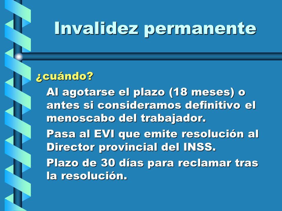 Invalidez permanente ¿cuándo