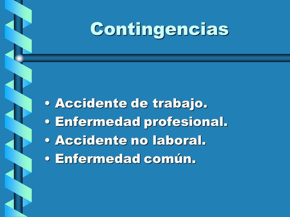 Contingencias Accidente de trabajo. Enfermedad profesional.