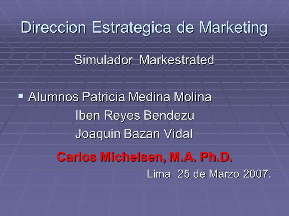 Direccion Estrategica de Marketing