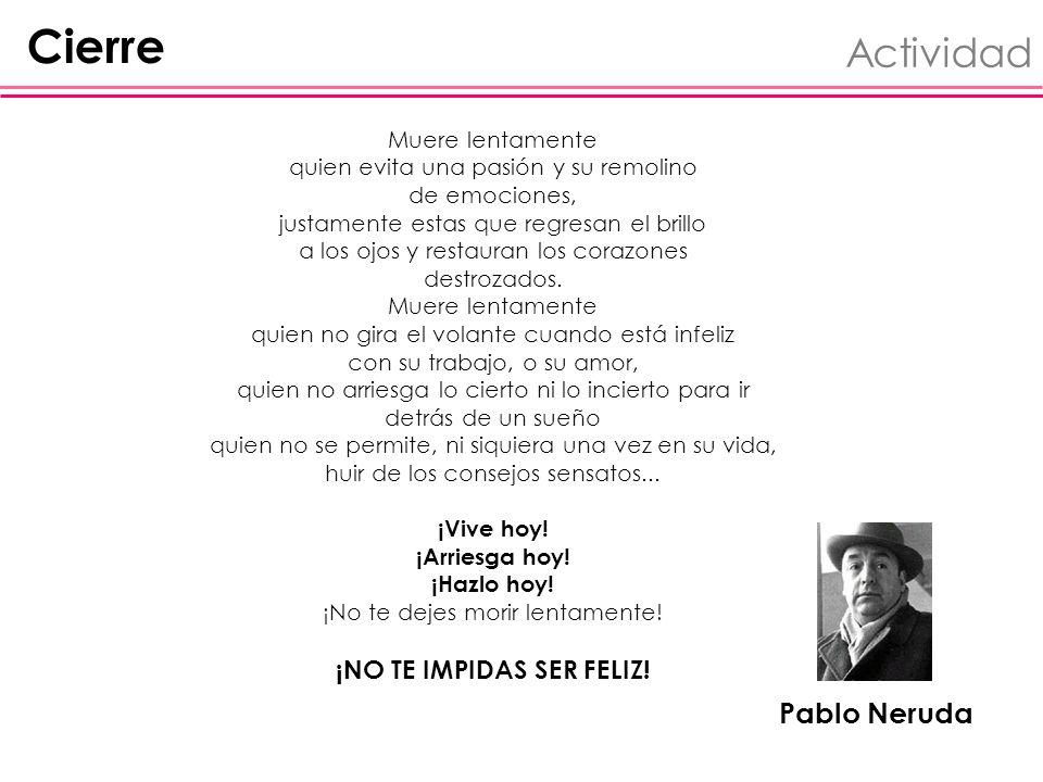 Cierre Actividad Pablo Neruda