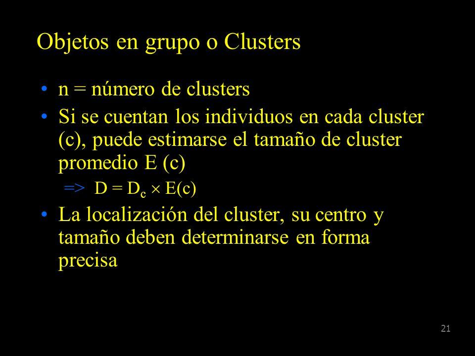 Objetos en grupo o Clusters