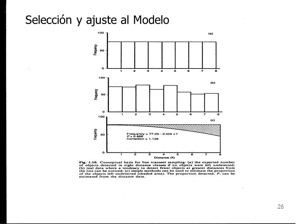 Selección y ajuste al Modelo
