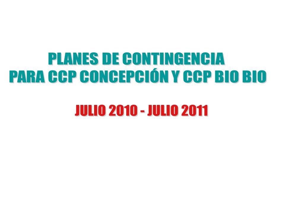 PLANES DE CONTINGENCIA PARA CCP CONCEPCIÓN Y CCP BIO BIO