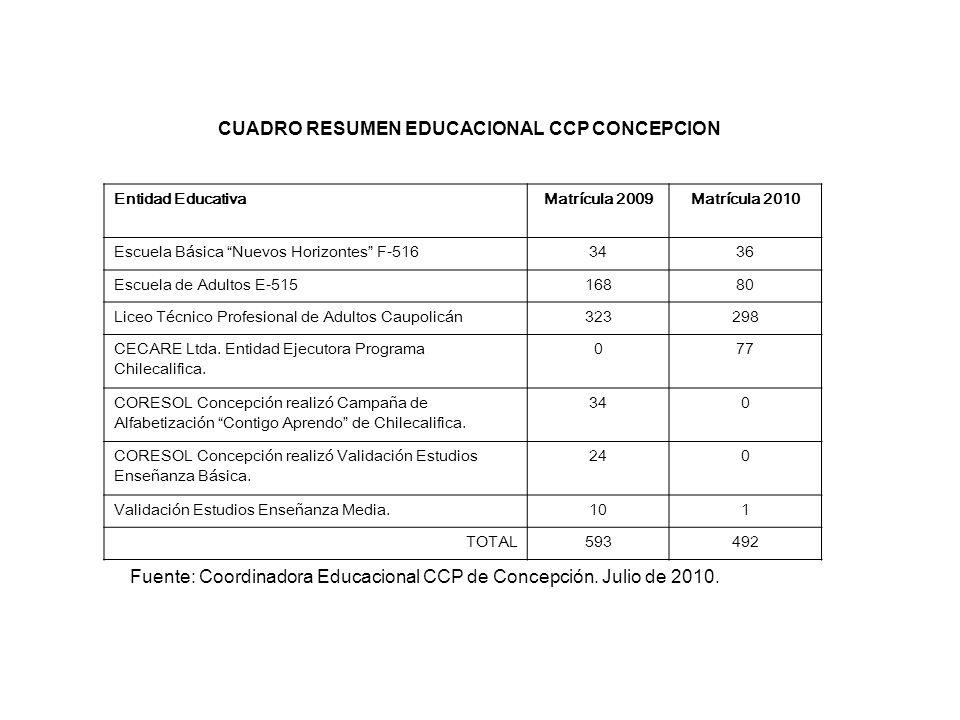 CUADRO RESUMEN EDUCACIONAL CCP CONCEPCION
