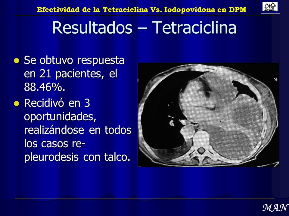 Resultados – Tetraciclina